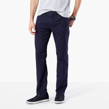 Jean cut slim tapered fit navy dockers united states for Dockers wrinkle free shirts
