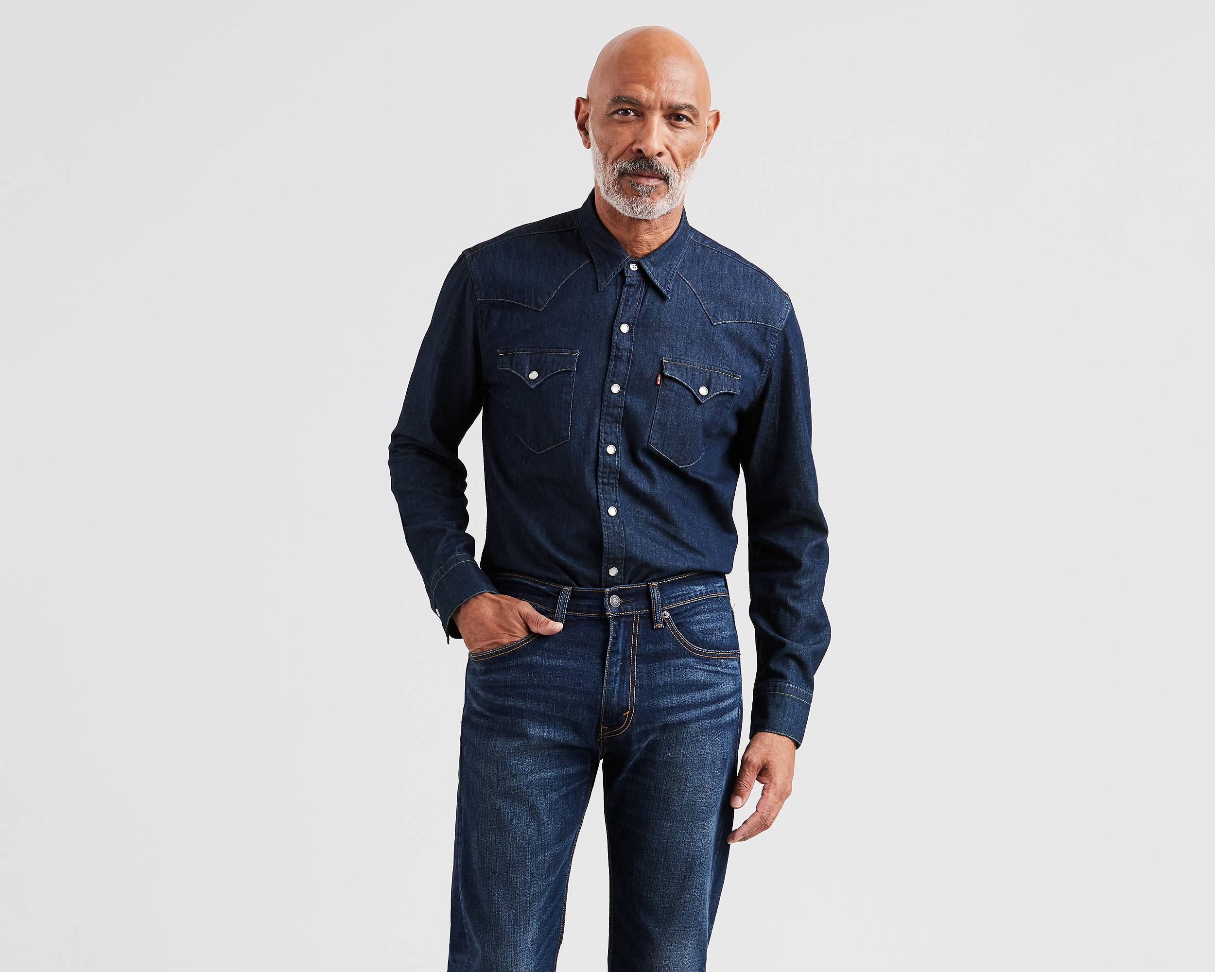 For the rugged Working Man who needs a shirt every bit as bold and strong as he is, the Red Kap SD78 DN Utility Blue Denim Western Shirt is a real barn-burner. Please note, 5XL and above are made to /5(14).