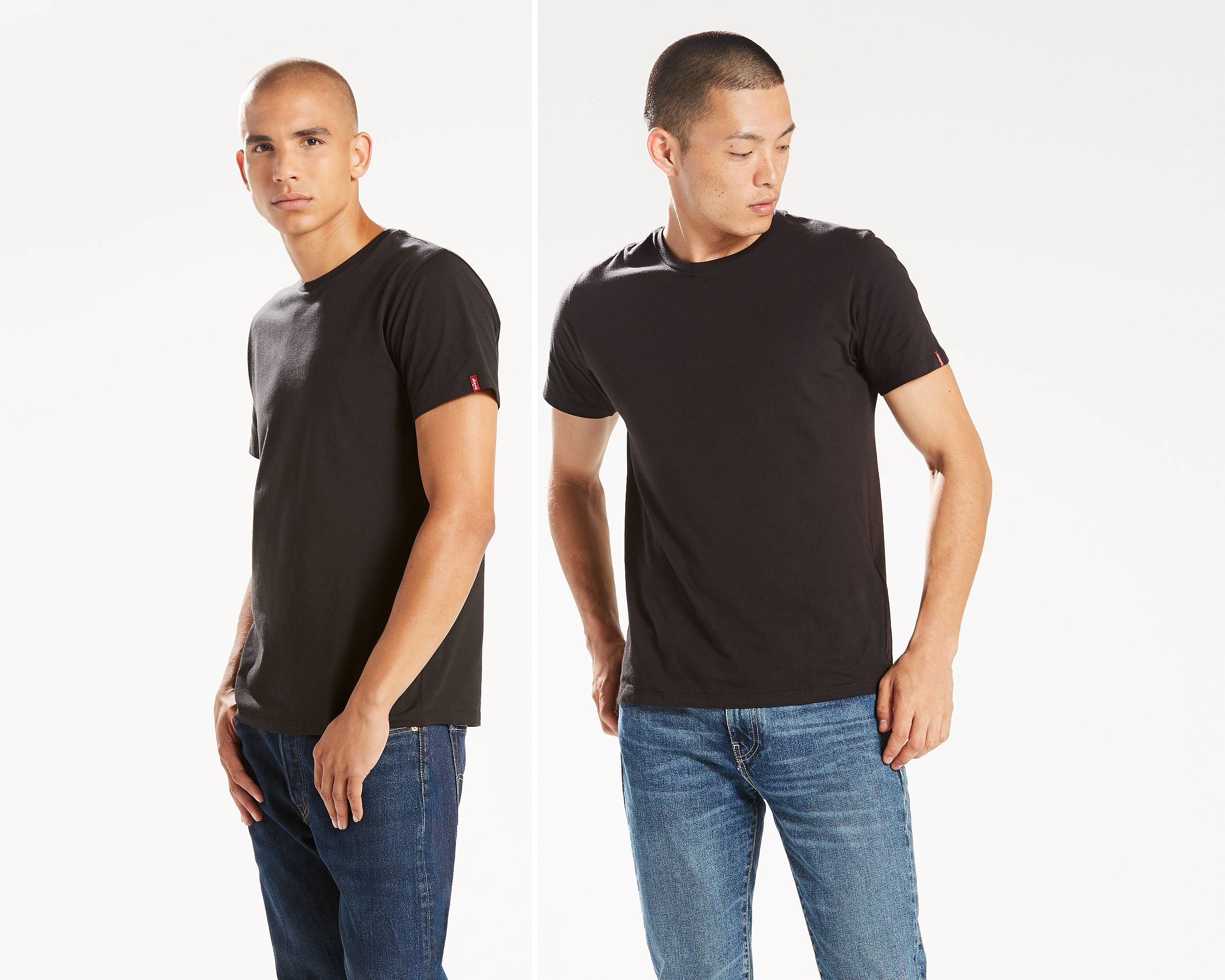 Black t shirt navy jeans - Quick View