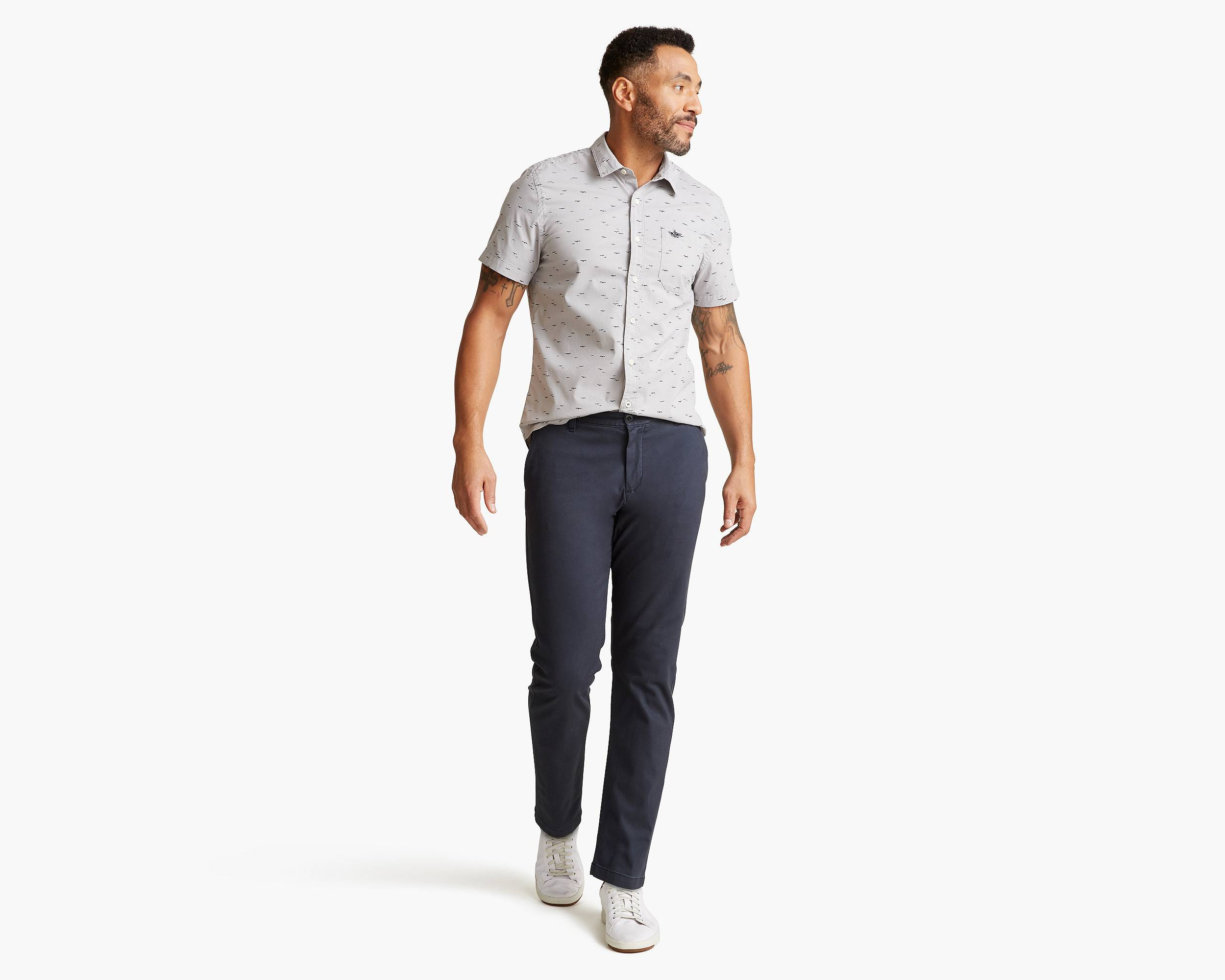 Washed Khaki Pants, Athletic Fit by Dockers